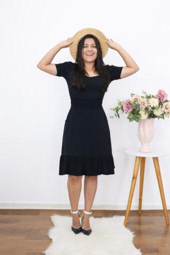 Vestido Preto Basic em Áquila Tauheny Store | Moda Evangélica