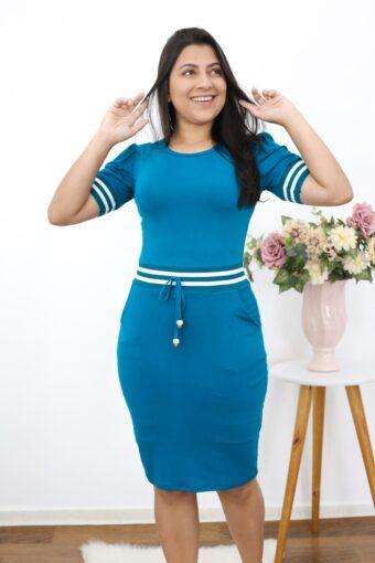 Vestido de Malha Joana em Moda Evangélica