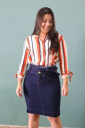 Saia Jeans Bianca