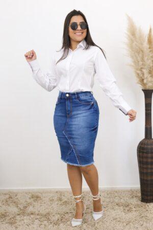 Saia Jeans Lápis Basic