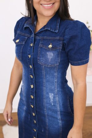 Vestido Jeans Tubinho