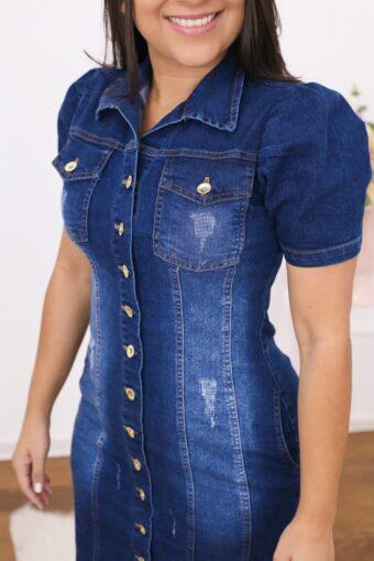 Vestido Jeans Tubinho em Áquila Tauheny Store | Moda Evangélica