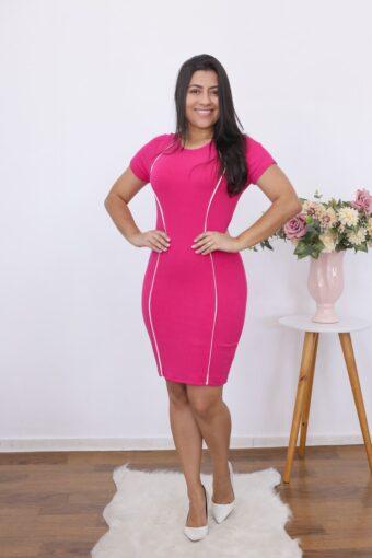 Vestido de Malha Canelada | moda evangélica