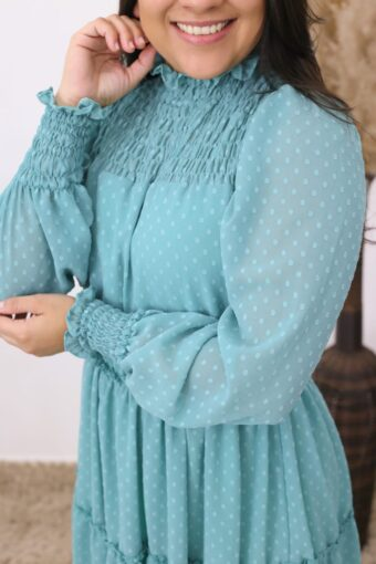 Vestido Lastex Jade | Moda Evangélica e Executiva
