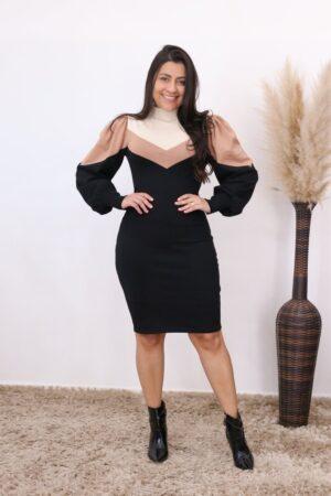 Vestido de Tricot Preto Ágata