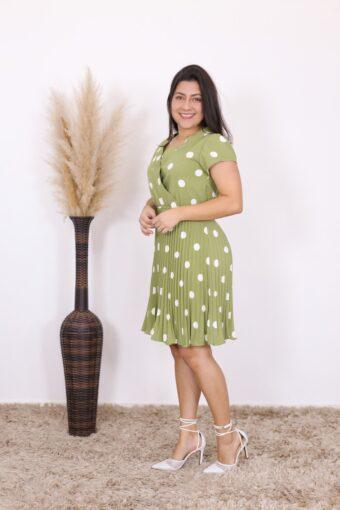 Vestido Plissado Olivia | Moda Evangélica