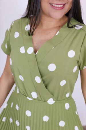 Vestido Plissado Olívia
