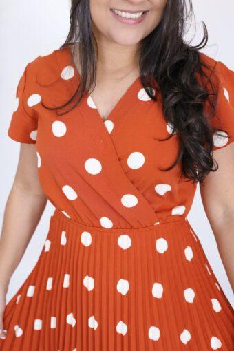 Vestido Plissado Talita | Moda Evangélica