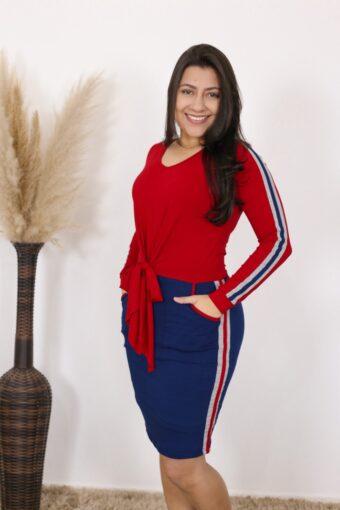 Vestido de Malha Dhamaris   Moda Evangélica