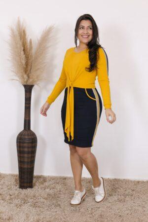 Vestido de Malha Girassol