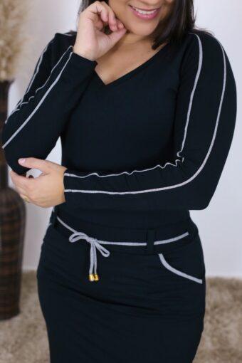 Vestido de Malha Iris | Moda Evangélica