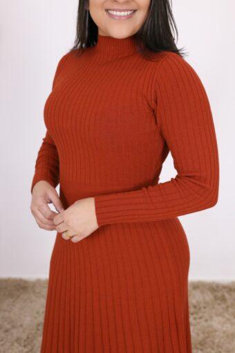 Vestido de Tricot Alice   Moda Evangélica