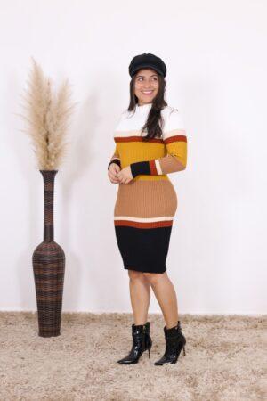 Vestido de Tricot Cappucino