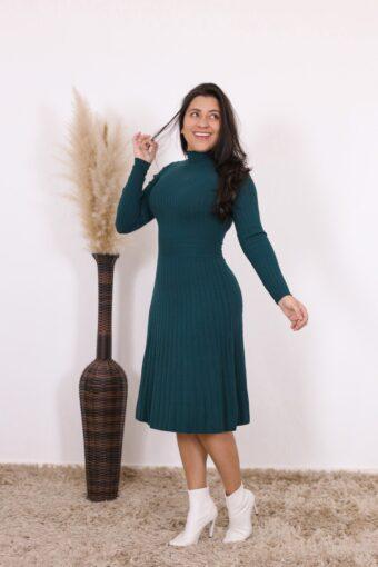 Vestido de Tricot Meriele | Moda Evangélica