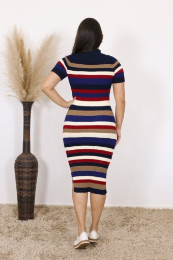 Vestido de Tricot Poliana   Moda Evangélica