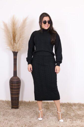 Conjunto de Tricot Pérola | Moda Evangélica