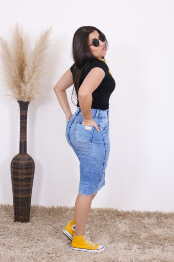 Saia Jeans Lara   Moda Evangélica