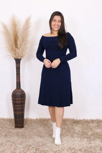 Vestido de Tricot Bella | Moda Evangélica
