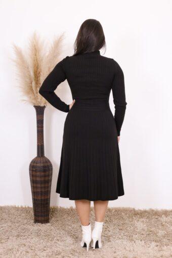 Vestido de Tricot Preto Júlia | Moda Evangélica