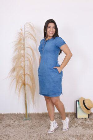 Vestido Jeans Soltinho Claro
