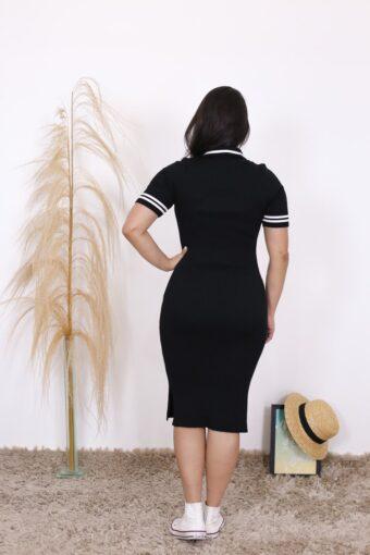 Vestido Tricot Polo Luna   Moda Evangélica
