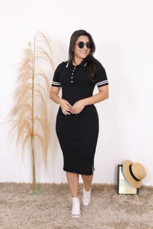 Vestido Tricot Polo Luna | Moda Evangélica
